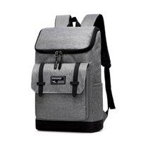 sacos de laptop de lona para homens venda por atacado-Grande Capacidade Mochila Laptop Mulheres Sacos de Lona Dos Homens Oxford Mochilas de Lazer Mochilas de Viagem Retro Saco Ocasional Para Adolescente