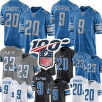 sanders fußball großhandel-Detroit Jersey Lion 20 Barry Sanders 9 Matthew Stafford 23 Darius Slay Jersey Top Herren 88 T. J. Hockenson Fußballjerseys