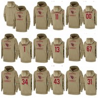 Wholesale youth style resale online - Men Women Youth Hot Style Cardinal Customize Any Number Name Salute to Service Therma Pullover Hoodie