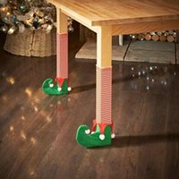 Wholesale tree chair resale online - 1PC Christmas Table Leg Chair Foot Covers Xmas Party Decoration Navidad Xmas Funny Christmas Table Decor YY