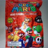 en iyi mario bros oyuncakları toptan satış-Mario Rakamlar 12 Modelleri Süper Mario Bros. Yoshi Prenses Rakamlar Doll Oyuncaklar Çocuklar İçin En İyi Hediyeler 72 ADET Nefis perakende çanta Ambalaj
