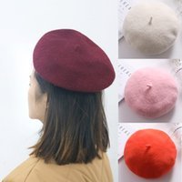 68370f80a8d 2019 New Fashion Lady Colorful Spring Autumn Solid Cotton Wool Beret Hat For  Women Girls Hat Ladies Casual Caps Takes Female Cap