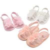 сандалии для девочек оптовых-2019 новые летние цветочные детские мокасины мягкие новорожденного первые ходунки обувь девушки принцесса сандалии цветок детская обувь C6298