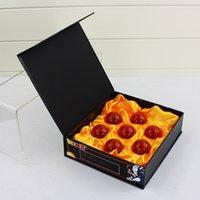 ejderha topu z rakamlar kutusu toptan satış-7 adet / grup Dragon Ball Z Oyuncaklar 3.5 cm Yeni Box Dragonball 7 Yıldız Kristal Top Dragon Ball Z Topları Komple Set Perakende Action Figure