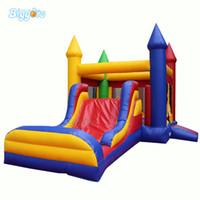 aufblasbares prahlerhaus großhandel-Kommerzielles aufblasbares springendes federndes Schloss-Schlag-Haus-Prahler-Dia-Spiel im Freien für Verkauf