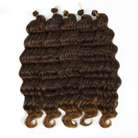 Wholesale ombre kinky braiding hair for sale - Group buy 20inch g Kinky Curly Synthetic Hair Crochet Braids Deep Twist Ombre Deep Wave Braiding Hair Extensions packs Ombre Brown