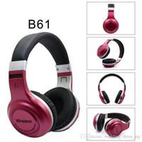 ingrosso modello di auto wireless-car B61 Bluetooth Headset Wireless Headset bilaterale auricolare Bluetooth Powder 7 Nuovo Modello privato Sport Musica
