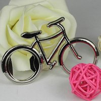Wholesale bottle for cycling resale online - Cute Fashionable Bike Bicycle Metal Beer Bottle Opener Keychain Key Rings for Bike Lover Biker Creative Gift for Cycling DH0248