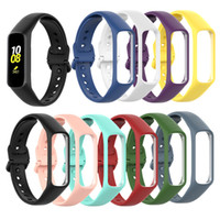 Wholesale accessories for galaxy for sale – best Hot Sale Watch Strap Silicone for Samsung Galaxy Fit e SM R375 Wristband Strap Smart Bracelet Sport Replacement Accessories Watch Bands