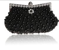 embrayages de mariée en ivoire achat en gros de-belle perlé ivoire mariée sac à main sac de mariée Champagne perle dans Sacs à main des femmes banquet soirée fête de bal pochette