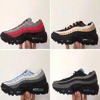 bebé de zapatillas de marca al por mayor-Nike air max 95 Baby Kids Brand Classic Tn Runnning Shoes OG Aniversario Niños Niñas Calzado deportivo Triple Negro Niños Diseñador Zapatillas de deporte Entrenadores Tenis