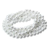 ingrosso perle faux lunghe perline-Collana con perle lunghe in vetro rotondo bianco perla finta perline CALDO