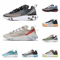 Wholesale red fashion shoes for men for sale - Group buy New React Element Running Shoes for Men Women Top Quality Sail Royal Tint Fashion Mens Trainers Lightweight Sports Sneakers