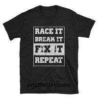 treibende teile großhandel-Race It Break It Fix Repeat Rennmechaniker T-Shirt Drift Shirts Drifter Geschenke Racer Geschenke Autoliebhaber Autoteile Shirt