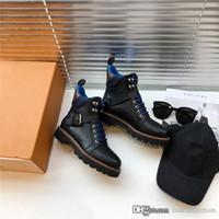botas de moda al por mayor-botines muy versátiles para el otoño y el invierno, de moda contratada es recreativo altura de las botas de cuero del tobillo atlético con el cuadro 35-40