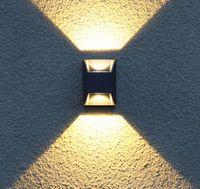aşağı led led duvar lambası toptan satış-Modern Açık Işık led Su Geçirmez Duvar Lambası Veranda Lamba Ip65 Açık led Işık Yukarı Aşağı Işık Açık Duvar Işıkları Sundurma Aydınlatma LLFA