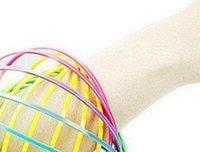 anneaux en plastique pour enfants achat en gros de-Arc-en-3D Bras Bras Anneau Jouets En Plastique Toroflux Anneau Magique Décompression Jouets Enfants Enfants Cadeaux 60pcs
