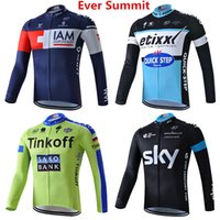 Wholesale cycling jersey tour france green for sale - Man cycling Jersey Motorcycle Racing Suit Tour de France team clothing bike spring summer men designer t shirts sports Sets Long Pants