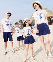 Jeff store Family Matching Outfits comfortable White shirts and pants best quality 2019 new fashion