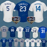 mike moustakas jersey al por mayor-Los Angeles Dodgers 22 Clayton Kershaw 5 Corey Seager 23 Adrian Gonzalez 35 camisetas de Cody Bellinger