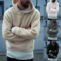 Wholesale white fleece jacket for men online – oversize Mens Hoodies Bomber Cardigan Jacket Men Winter Thick Warm Fleece Teddy Coat for Mens SportWear Male Fleece Hoodies