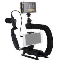 estabilizadores steadycam steadicam dslr cámara al por mayor-2019 PULUZ para steadycam U-Grip C en forma de empuñadura Estabilizador de cámara con cabeza de trípode Teléfono Abrazadera para Steadicam DSLR Estabilizador