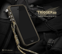 Wholesale iphone tactical resale online - 4thdesign cell phone trigger metal frame bumper for iphone s s SE S plus aluminum bumper case tactical edition FREE