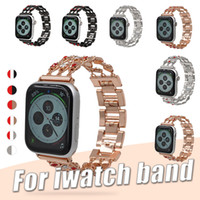 Wholesale pink metal jewelry resale online - Jewelry Band for Apple Watch Band mm mm Diamond Bracelet Stainless Steel Metal Buckle Replacement for iWatch Apple Watch Series