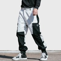 Wholesale baggy jogger trousers for sale - Group buy Men Cargo Pant Streetwear Color Block Hip Hip Harajuku Harem Pant Pockets Japan Style Baggy Pant Joggers Hipster Trousers