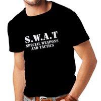 военное оружие оптовых-S. W. A. T силы-специальное оружие и тактика-военная техника мужская футболка 2018 новый тройник трикотажные удобные ткани печати мода короткие