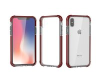 Wholesale x gifts for sale - Acrylic Phone Case for iphone Plus iPhone X TPU Clear Shockproof Cover Case Dual Colors Best gifts