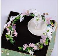 brautjungfern kopfbedeckungen großhandel-Brautjungfer Flower Boy Headwear neue 2009 fotografische Projekte Ring