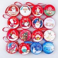 rosa metallschmuck großhandel-Weihnachten Anhänger Geldbörse Kasse Weihnachten Hängende Verzierung Metall Reißverschluss für Münzen Cash Headset USB Kabel Schlüssel Schmuck