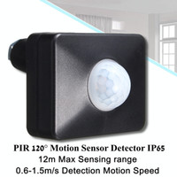 innenbeleuchtung sensoren detektoren großhandel-120 Grad PIR Bewegungsmelder Schalter LED-Lichtleiste Detektor Outdoor / Indoor IP65 LED Flutlicht für LED-Lichtleiste AC 220-240V