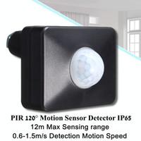 interrupteur led achat en gros de-Le commutateur de capteur de mouvement de 120 degrés PIR a mené le projecteur extérieur / d'intérieur d'IP65 LED de détecteur de bande de lumière pour la CA 220-240V de barre lumineuse de LED
