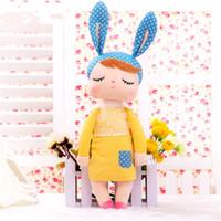 mini bebek kız bebekleri toptan satış-Moda Tavşan Rüya Bebek Dolması Oyuncaklar Peluş Hayvanlar Çocuk Oyuncakları Kız Çocuk Erkek Bebek Peluş Oyuncaklar Karikatür Mini Angela Tavşan bebekler