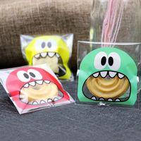 süßigkeiten taschen für hochzeiten groihandel-Plastiktüte Monster Mund Teech groß hübsch für Hochzeiten Geburtstagskekse süße Verpackungsbeutel OPP selbstklebend für Partys