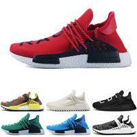 e33db3cf6 New arrival Human race Hu trail x pharrell williams Nerd men running shoes  white Equality mens trainers for women sports sneaker