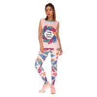 ingrosso leggings delle piume-Donna Leggings Feathers Vibes 3D Digital stampati full stretch pantaloni da allenamento yoga Lady confortevoli Jeggings Girls Gym pantaloni skinny (Y44443)