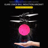 Wholesale new electric helicopters resale online - Hot Flying Bright Sphere RC Children Flying Ball Anti Stress Drone Helicopter Infrared Induction Aircraft Remote control Toys