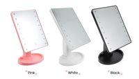 neuer spiegeltisch großhandel-Neu mit heißen Verkauf-360-Grad-Drehung Touch-Screen-Make-up Spiegel 16/22 LED Lampen Professionellen Rasierspiegel Tabelle Desktop-Spiegel Make