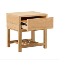 Wholesale solid wood table for sale - Group buy Solid wood bedside cabinet Nordic small family pine tea table cabinet Creative living room bedroom furniture solid wood edge several