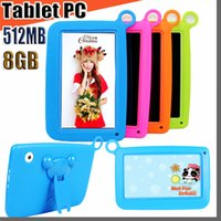 Wholesale kids tablet resale online - 848 NEW Kids Brand Tablet PC quot Quad Core children tablet Android Allwinner A33 google player wifi big speaker protective cover M PB