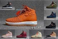 ingrosso gli uomini s stivali di pelle moda-Sneakers Mens 1 Chaussures Running shoes autentico impermeabile di pelle Hight Top Stivali LF1 Duckboot uomini di modo