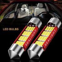 ingrosso licenza leggera-2PCS LED Light Car auto la targa per cupola interna lampada da lettura 42 millimetri 31 millimetri 36 millimetri