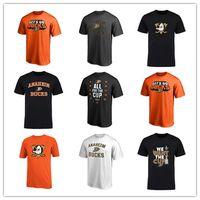 impresión uniforme del logotipo al por mayor-18 19 Hombres Anaheim Ducks Camisetas Camiseta deportiva Rojo Naranja Diseño Camisetas de hockey Camisas de manga corta al aire libre Envío gratuito impreso Logos