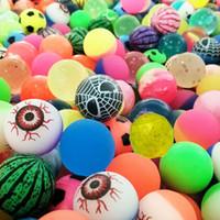 crianças bola se expande venda por atacado-Brinquedo engraçado bolas misturadas Bouncy Bola Sólida bola de borracha elástica criança saltitante flutuante de pinball bouncy brinquedos