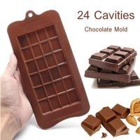 Wholesale 24 Chocolate Baking Molds Handmade Chocolate Ice Cake Environment Friendly Multi Functional Silica Gel Mold
