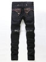 robin jeans coat venda por atacado-Robin Jeans Man Impressão Revestimento Rhinestone Decoração Brand Jeans bordado O Hommes na primavera outono Jeans