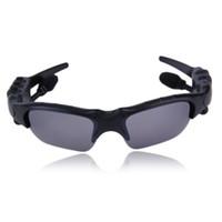 ingrosso auricolari sunglass-Occhiali da sole Auricolari Bluetooth Cuffia sportiva wireless Occhiali da sole Auricolari vivavoce stereo Lettore musicale mp3 Con confezione speciale
